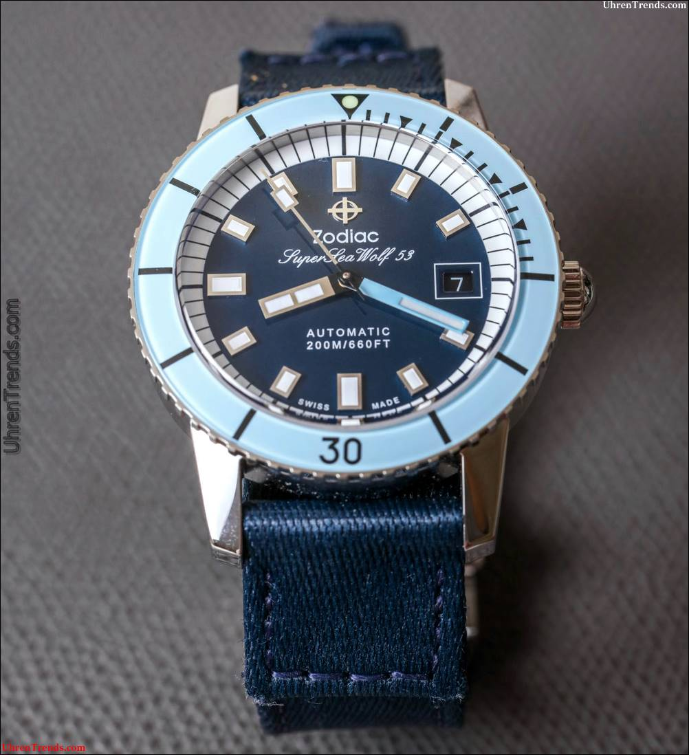 Zodiac Super Sea Wolf 53 Kompression ZO9265 & ZO9264 Watch Review