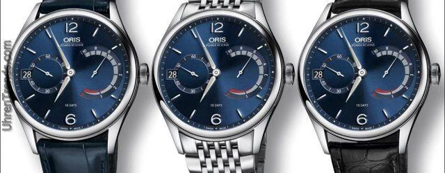 Oris Artelier Caliber 111 blaue Uhr