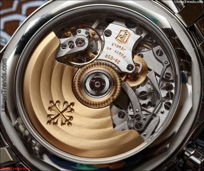 Patek Philippe 5960 / 1A Jahreskalender Chronograph Steel Watch mit schwarzem Zifferblatt Hands-On
